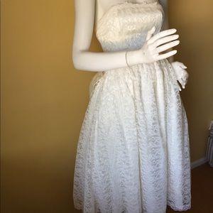 Vintage ivory wedding/cocktail? dress